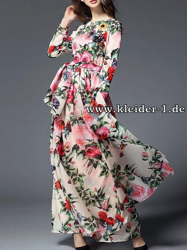 Langarm Sommerkleid Mit Blumen Muster Maxi Dress Womens Maxi Dresses Beautiful Dresses Online