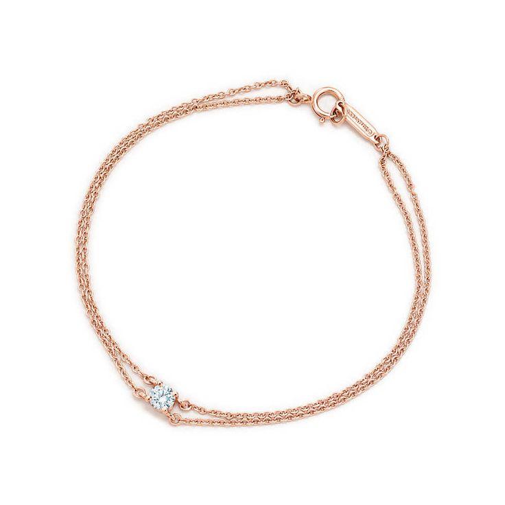 Tiffany: Pulseira de diamante solitário