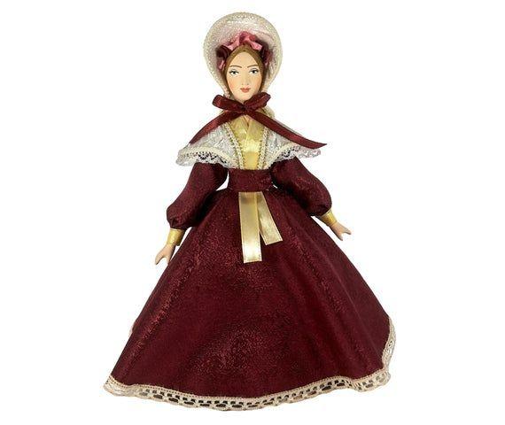 "Porcelain art doll /""Gypsy woman/"" Handmade souvenir"
