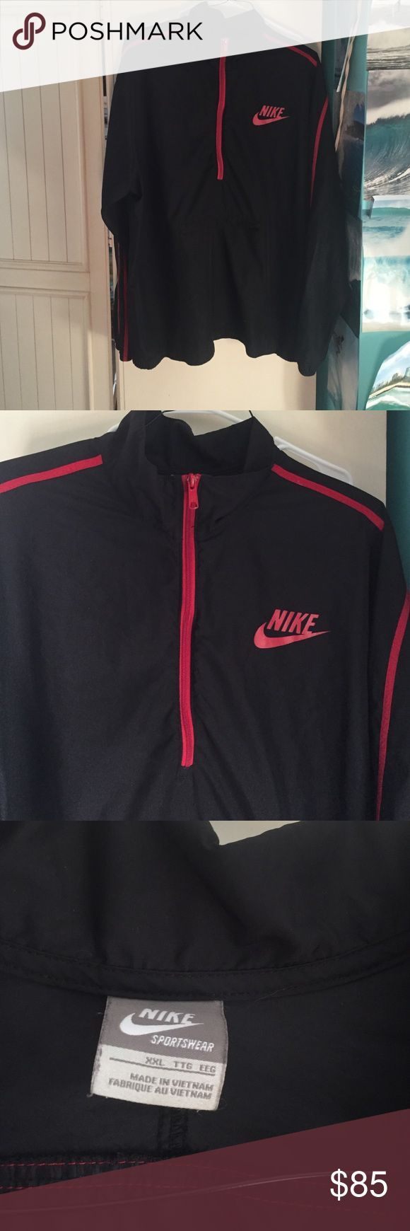 Men's Nike rain jacket Men's Nike rain jacket. Black and red has not been worn. Nike Jackets & Coats Raincoats