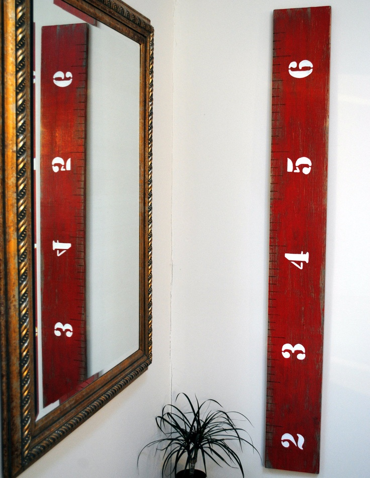 Wooden Growth Chart Handmade Ohio State OSU 6ft3in. $60.00, via Etsy.