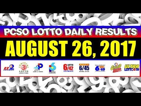 PCSO Lotto Result Today August 26, 2017 COMPLETE & OFFICIAL - (More info on: https://1-W-W.COM/lottery/pcso-lotto-result-today-august-26-2017-complete-official/)