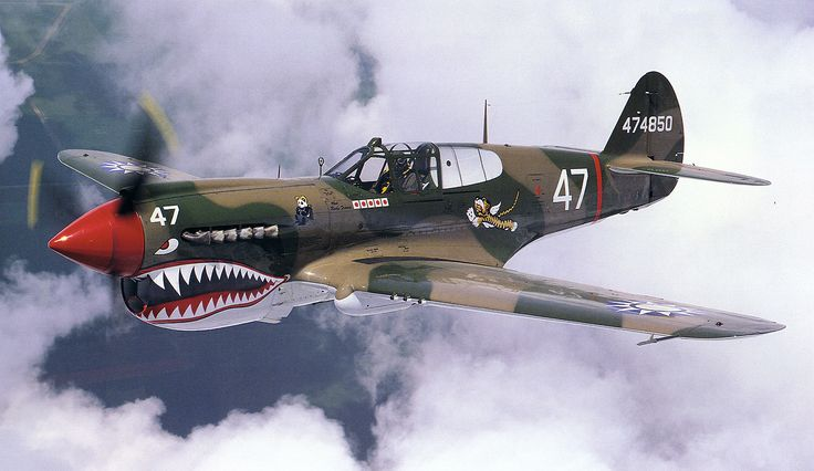 P-40 in the Flying Tiger scheme. | Flying Tigers - AVG ...