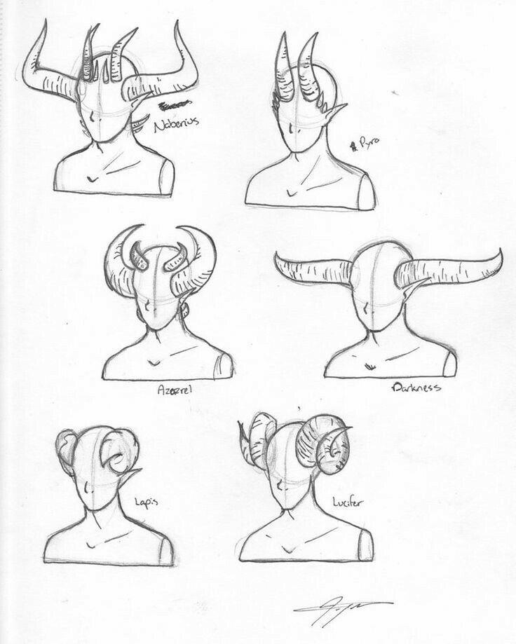 Horns, text; How to Draw Manga/Anime