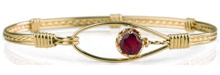 Ronaldo Jewelry- The Promise Bracelet in gold with a garnet gemstone