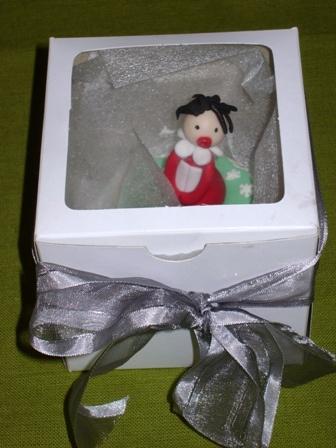 Christmas Cupcake in Box