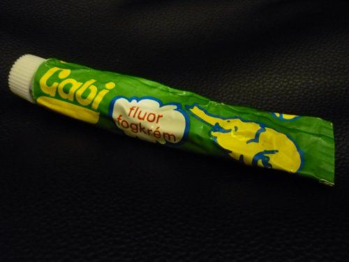 Gabi toothpaste for kids - we just ate it :) - Hungarian retro
