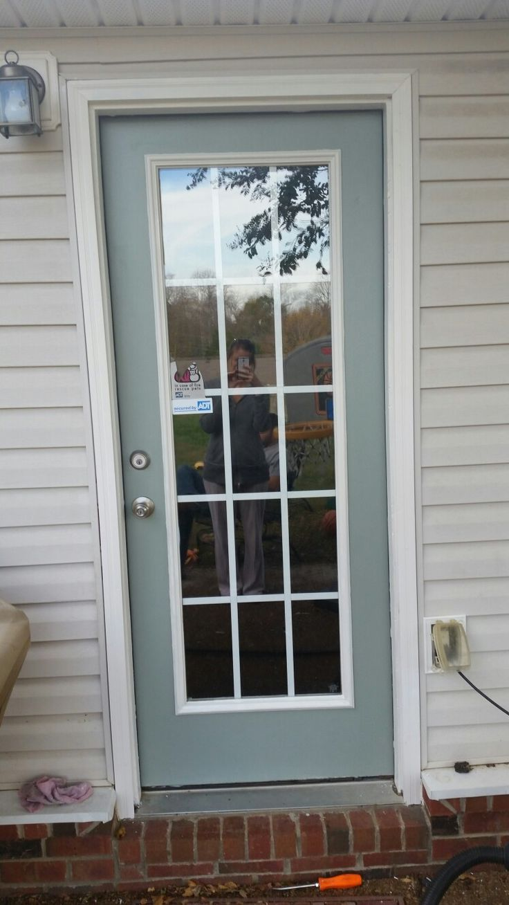 Backdoor Painted In Sherwin Williams Thorntree And Trim In
