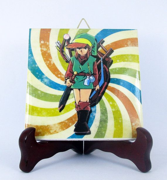 The Legend of Zelda inspired Ceramic Tile 100% by TerryTiles2014