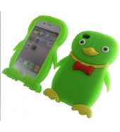 Green Penquin IPHONE 4G 4S CASE A SOFT SILICON GREEN PENGUIN CASE COVER