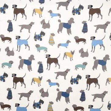 Doggy Days Fabric eclectic upholstery fabric...fun in a kids room