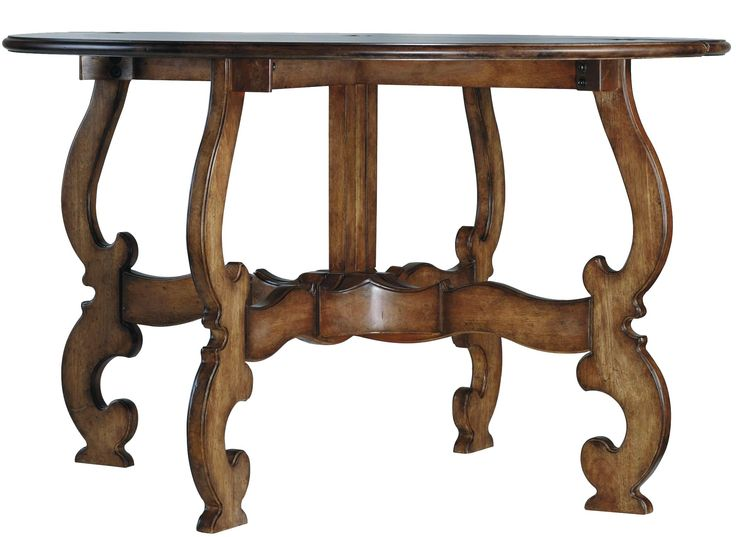Sanctuary 48 Inch Drop Leaf Round Table By Hooker