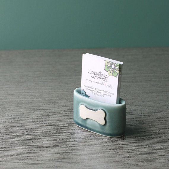 dog bone business card holder