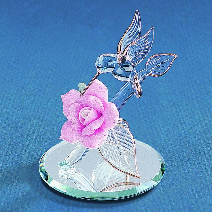 humming bird figurines glass | ... Glass Baron Figurines - Flowers and Garden > Glass Baron Hummingbird