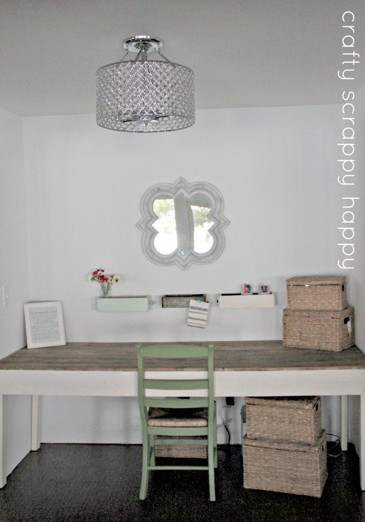 Adorable Office Makeover via Crafty Scrappy Happy