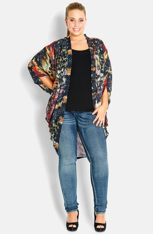 Best 25  Plus size kimono ideas on Pinterest | Plus size summer ...
