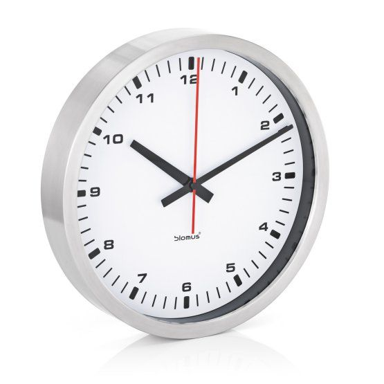 Era Stainless Steel & White Wall Clock