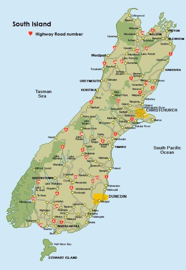 Distances Travel Time South Island Nz