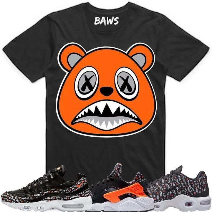 a836938d8019 Baws T-Shirt ORANGE BAWS Black Sneaker Tees Shirt - Nike Air Just Do It