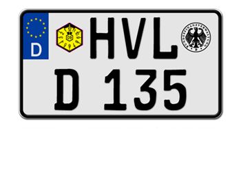 Germany motorcycle registration plate 2008.gif