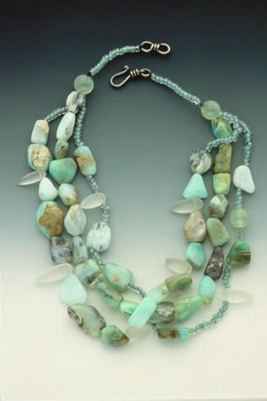 Uncut opal and amethyst