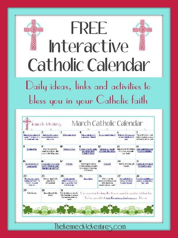 Ready to live the liturgical year? Don't miss this interactive Catholic family calendar for celebrating during March.