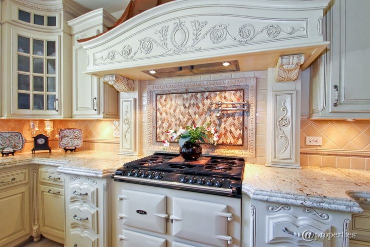"""Traditional Kitchen with AGA - ADC3GCRM 39"""" Freestanding Gas Cooker, Moon white granite countertop, Framed Partial Panel"""