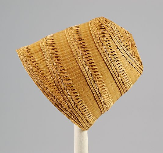 Hat, ca. 1810, American, Straw