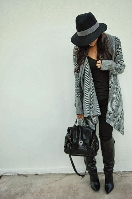 Fall Style - love everything about this outfit, especially the Fedora!