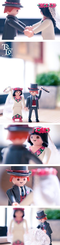 Prewedding playmobil wedding studio engagement bride