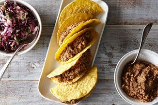 Easy Lentil Walnut Tacos with Cabbage Lime Slaw Recipe on Food52 recipe on Food52