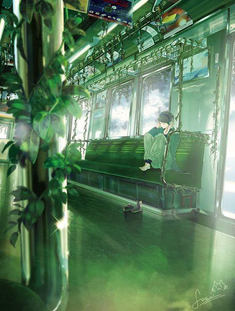 「healing train」/「ふすい」のイラスト [pixiv]