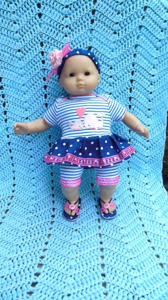BITTY BABY GIRL Whale of a Tale 2 15 inch doll by TheDollyDama, $17.00