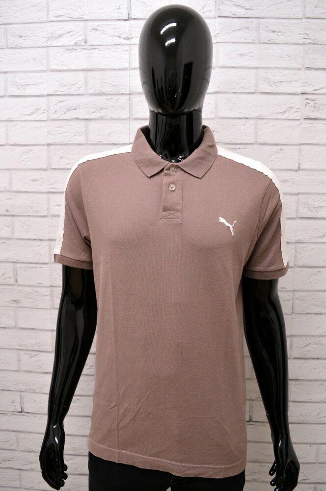 44b8a6b7e7 Polo PUMA Uomo Taglia M Maglia Maglietta Camicia Shirt Man Cotone ...