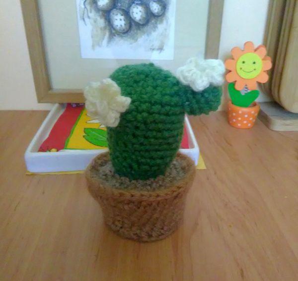 horgolt kaktusz