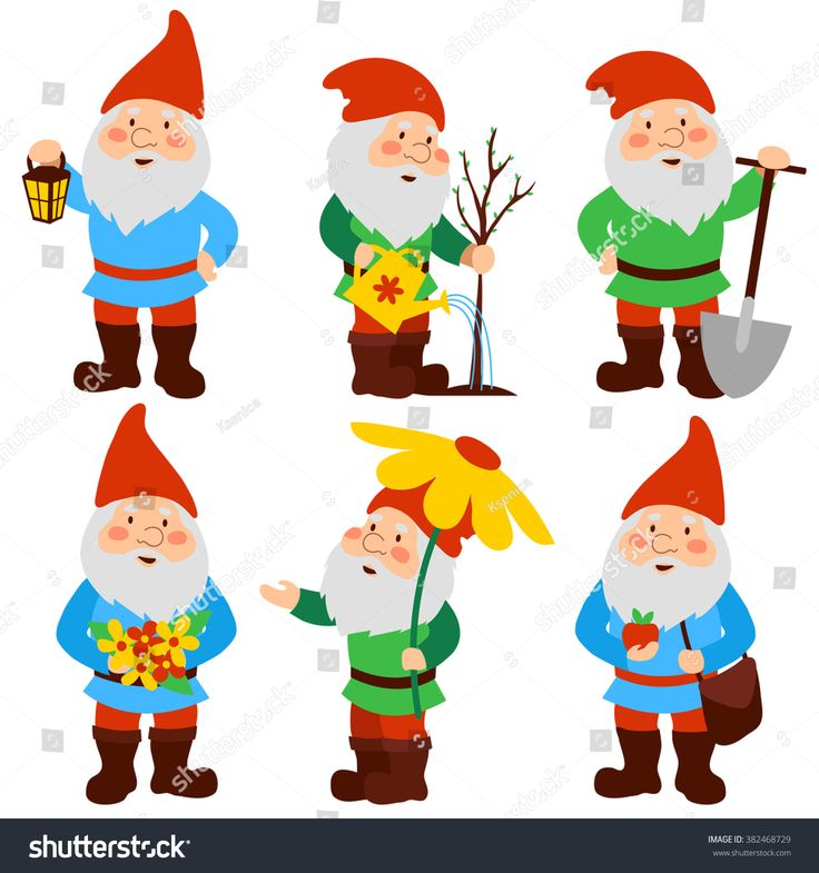 stock-vector-a-set-of-cartoon-garden-gnomes-382468729.jpg (1500×1600)