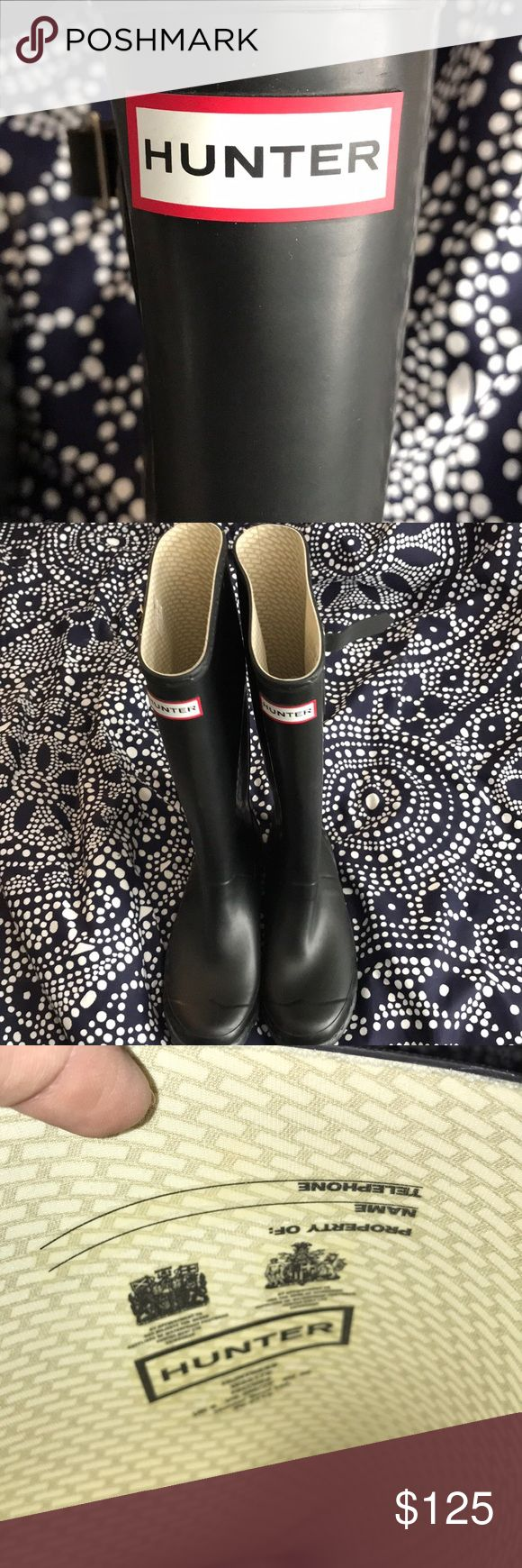 """Hunter Boots: Huntress (Wide Calf), Size 7. Worn maybe once before my calves screamed """"too tight""""? Matte Black. Hunter Boots Shoes Winter & Rain Boots"""