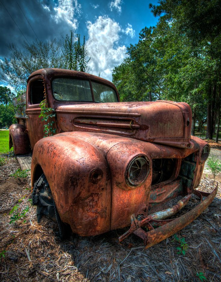 HDR - Love images of old trucks and cars