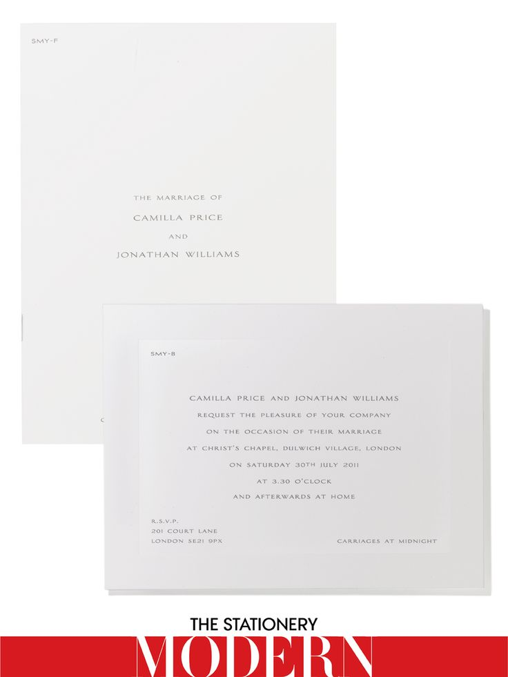 Smythson Bespoke Wedding Invitation 615 For Set Of 50Smythson NYC 2122654573