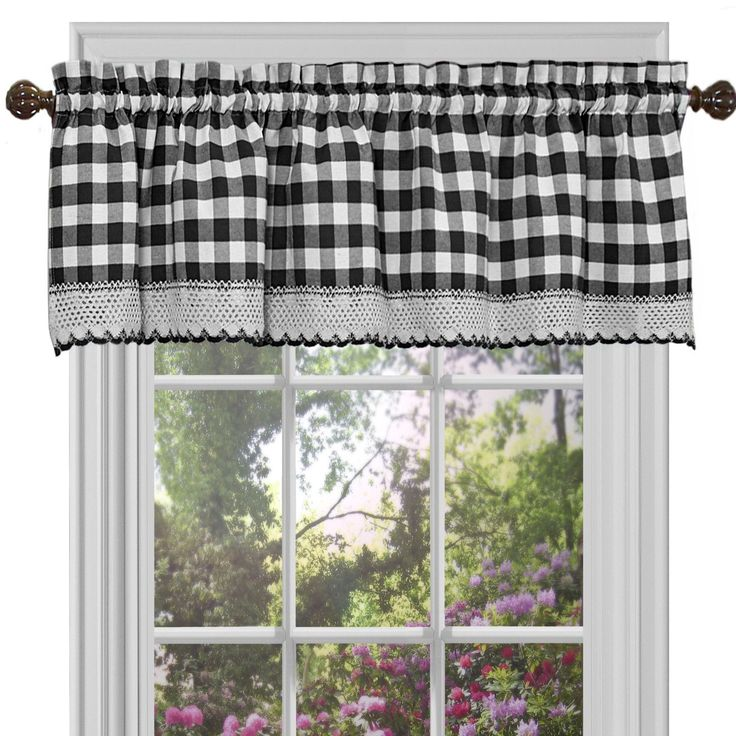 Features: -Material: 60% Polyester and 40% cotton blend. -Style: Country. Product Type: -Curtain valance. Material: -Cotton/Polyester. Design: -Tailored. Dimensions: Overall Product Weight: -1 l