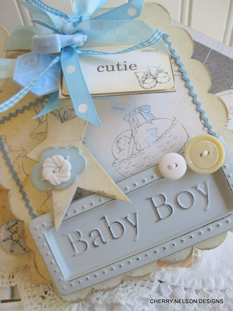 Vintage Baby Boy Mini Album by Cherry's Jubilee