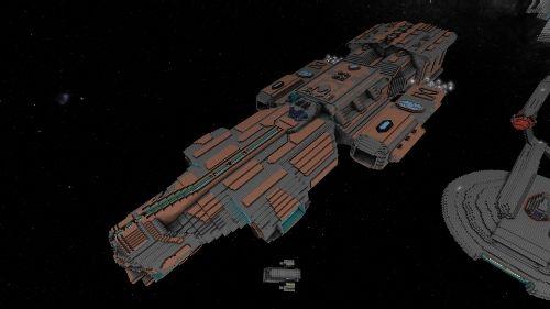 Ancient Aurora Warship-Stargate Project | StarMade