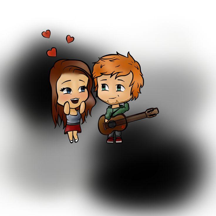 Prezent 4 my friend  #Ed #Sheeran #EdSheeran #Chibi #Fan #Guitar #Couple #ginger #inlove
