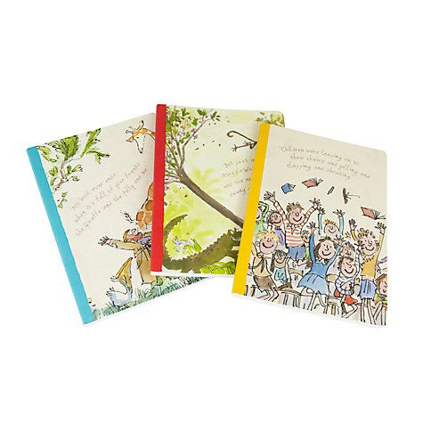 Buy Roald Dahl A5 Exercise Books, Set of 3 Online at johnlewis.com
