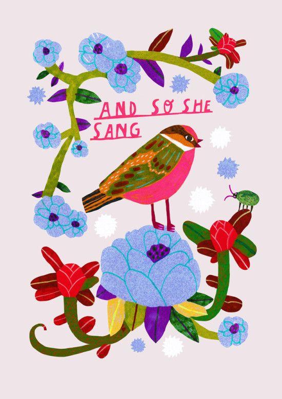 Monika Forsberg's colorful illustrations always make me smile. More of her works posted on the blog today! http://www.artisticmoods.com/monika-forsberg-2/