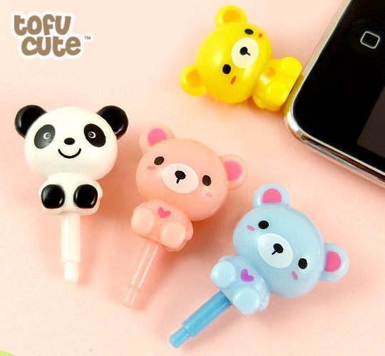 Buy Sweet Bear Plugy Earphone Jack Accessory at Tofu Cute