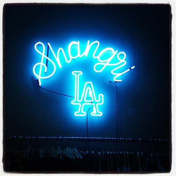 Yacht Shangri-La neon sign