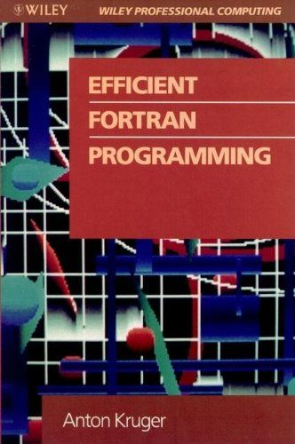 Efficient FORTRAN Programming (Wiley Professional Computing) by Anton Kruger. This book shows how to program for efficiency and explains that even simple alterations to existing programs can lead to dramatic reductions in execution time. http://search.lib.uiowa.edu/01IOWA:default_scope:01IOWA_ALMA21300559710002771