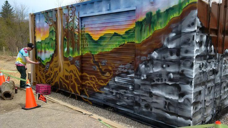 Natural playscape - Huron Natural Area - Ean Kools, artist.