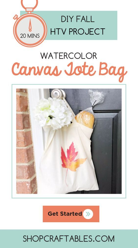 photo about How to Use Printable Heat Transfer Vinyl referred to as Do-it-yourself Watercolor Tote Bag with Printable Warm Move Vinyl